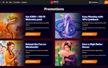 Promotions at Wild Tokyo casino