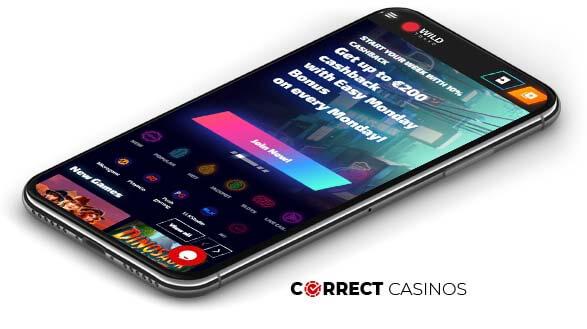 Wild Tokyo Casino - Mobile Version
