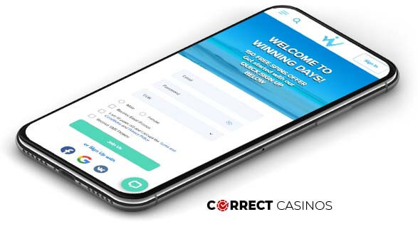 Winning Days Casino - Mobile Version