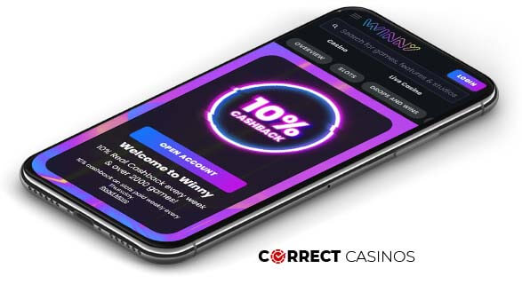 Winny Casino - Mobile Version