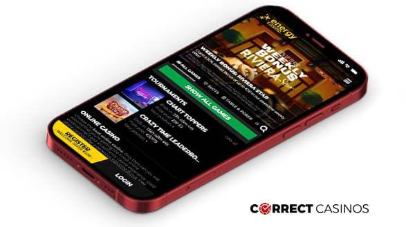 Energy Casino - Mobile Version