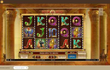 Game PLay at Bob Casino