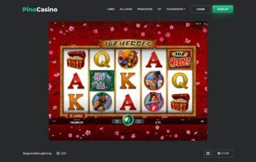 Game Play at Pino Casino