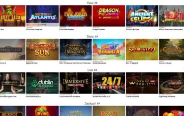 Games at Lucky31 Casino