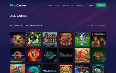 Games at Pino Casino