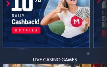MarsBet Casino - Mobile Version