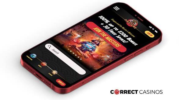 Masters Casino - Mobile Version