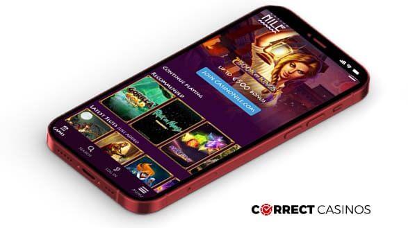 Nile Casino - Mobile Version