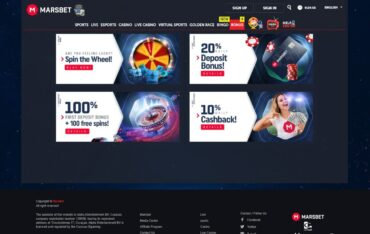 Promotions at Marsbet Casino