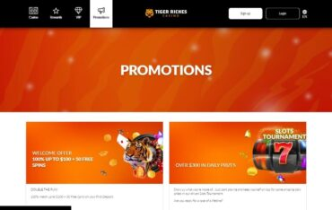 Promotions at Tiger Riches Casino