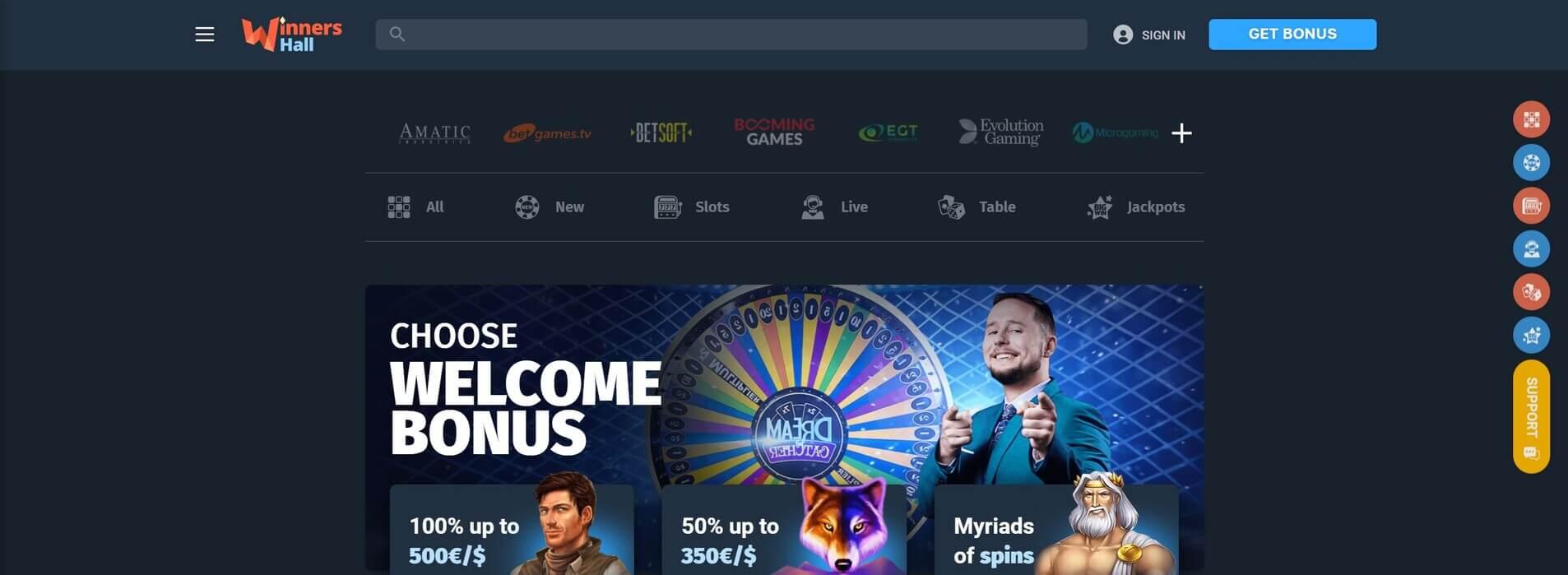 WinnersHall Casino