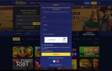 Sign Up at Betchain Casino