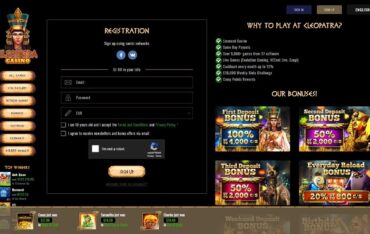 Sign Up at Cleopatra Casino