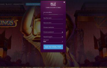Sign Up at Nile Casino