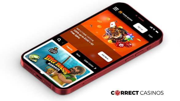Tiger Riches Casino - Mobile Version