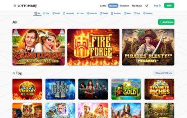 Games at LottoMart casino
