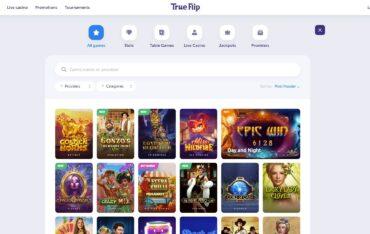 Games at TrueFlip Casino