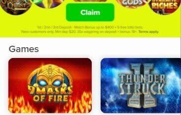 LottoMart Casino - Mobile Version