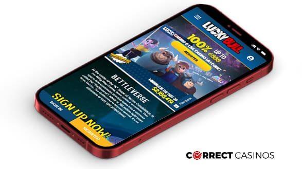 LuckyBull Casino - Mobile Version
