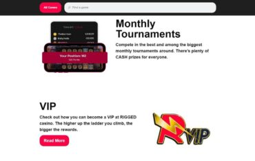 Promotions at Rigged Casino