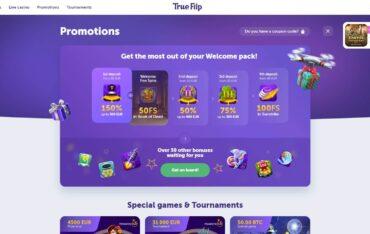 Promotions at TrueFlip Casino