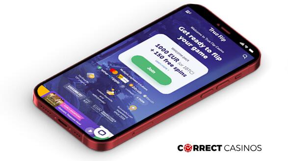TrueFlip Casino - Mobile Version
