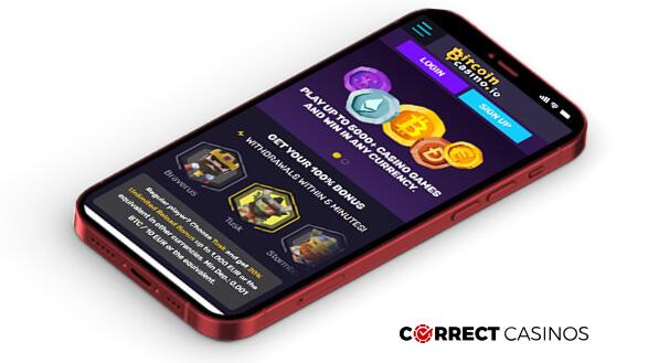 Bitcoin Casino - Mobile Version