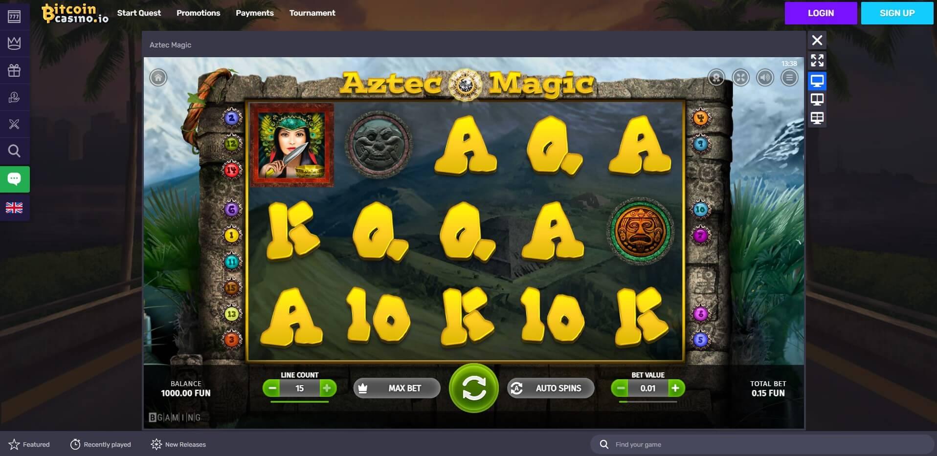 Game Play at Bitcoin Casino