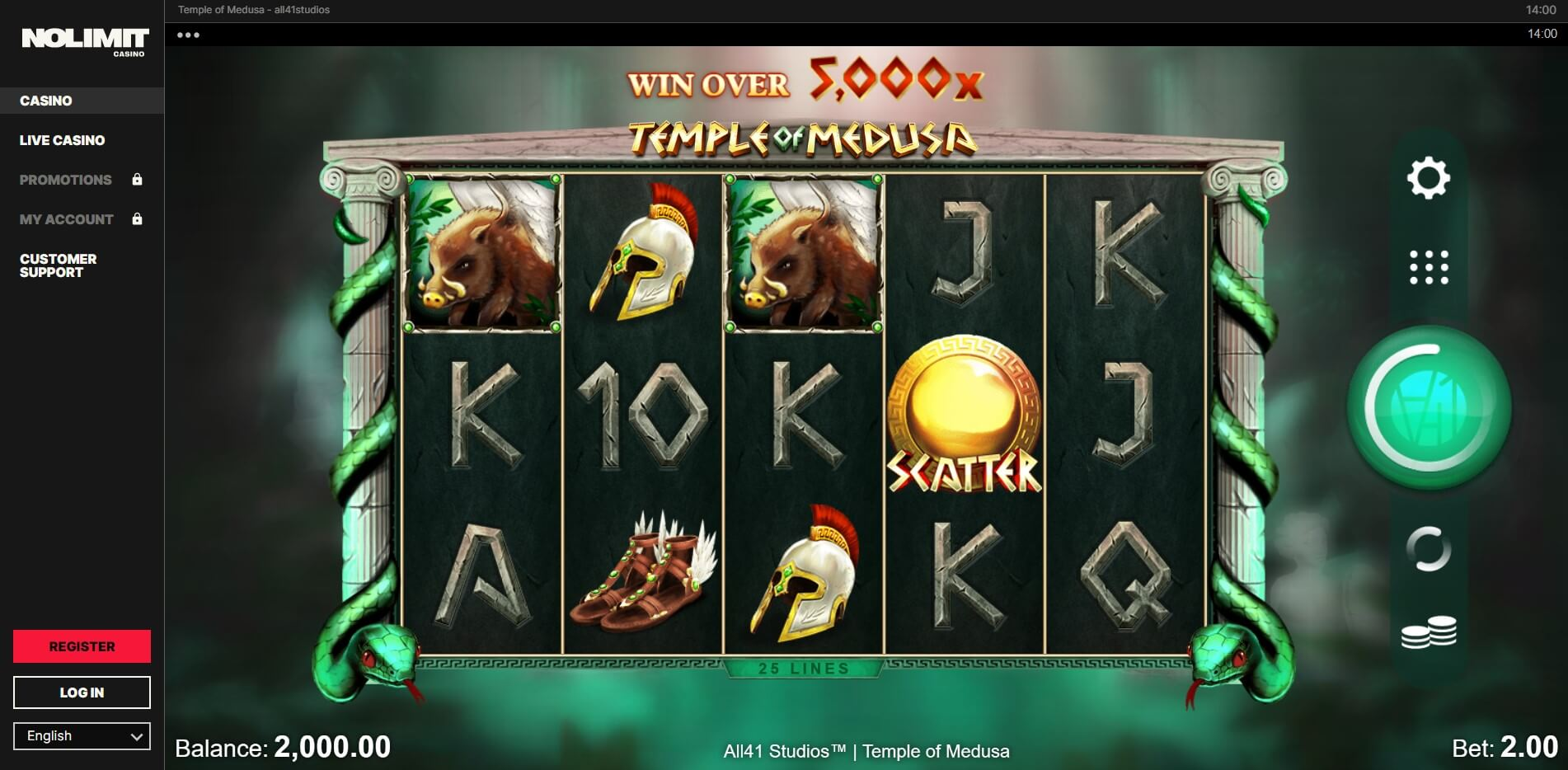 Game Play at Nolimit Casino