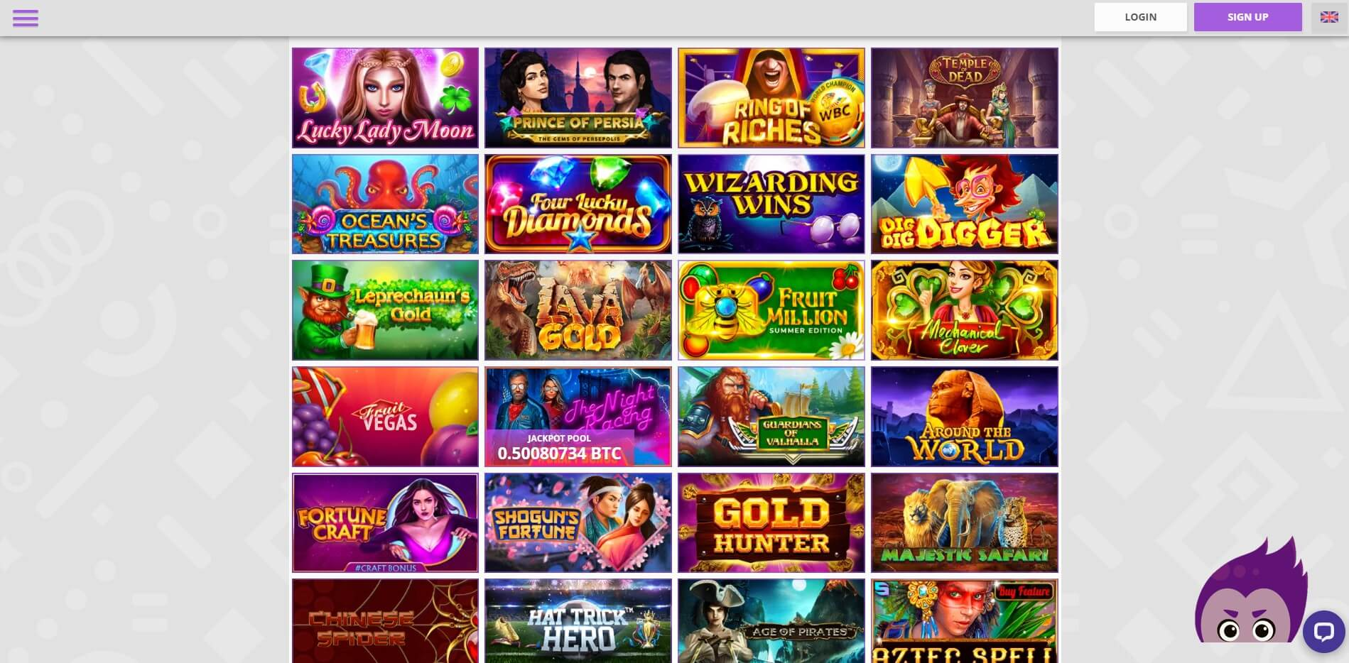 Games at CryptoWild CAsino