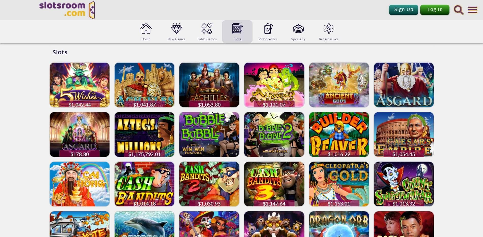 Games at SlotsRoom Casino