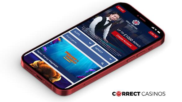Great British Casino - Mobile Version