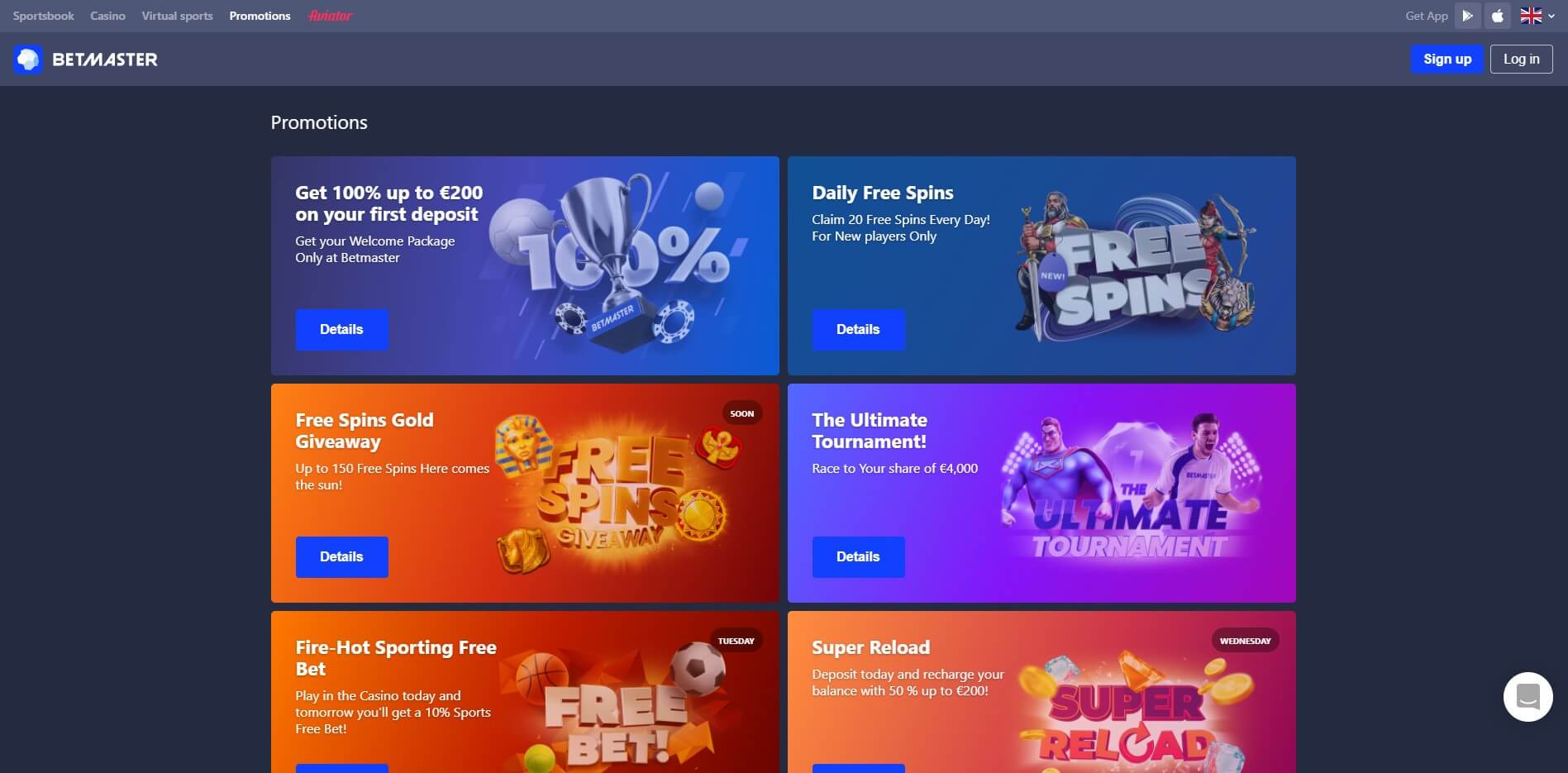 Promotions at BetMaster CAsino