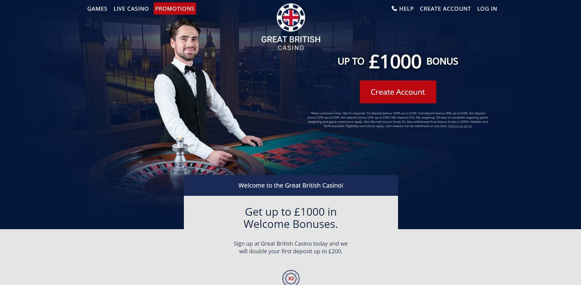 Promotions at Great British Casino