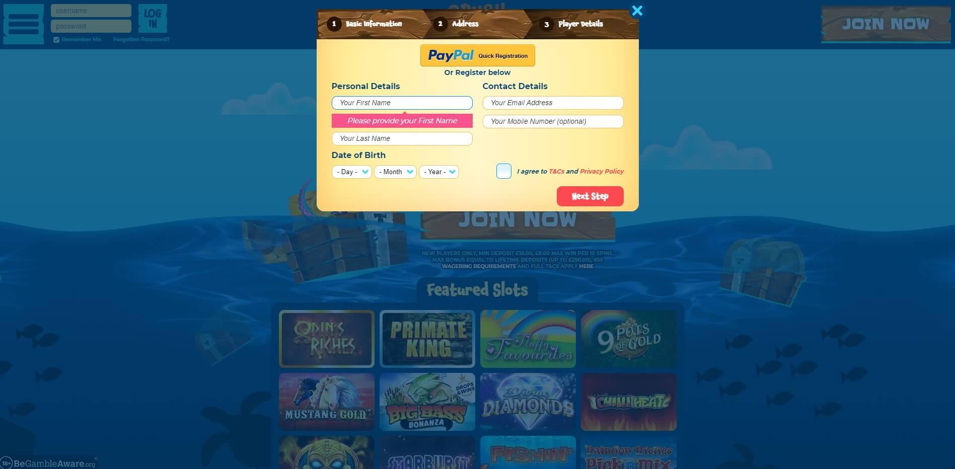 Sign Up at CrushWins Casino