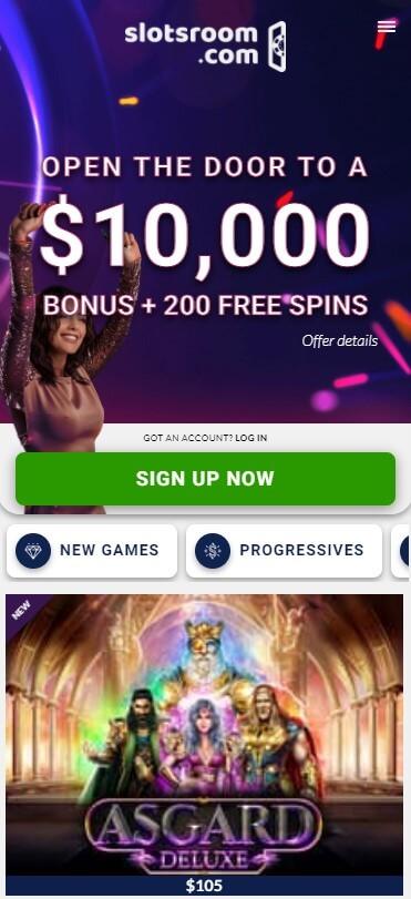 SlotsRoom Casino - Mobile Version