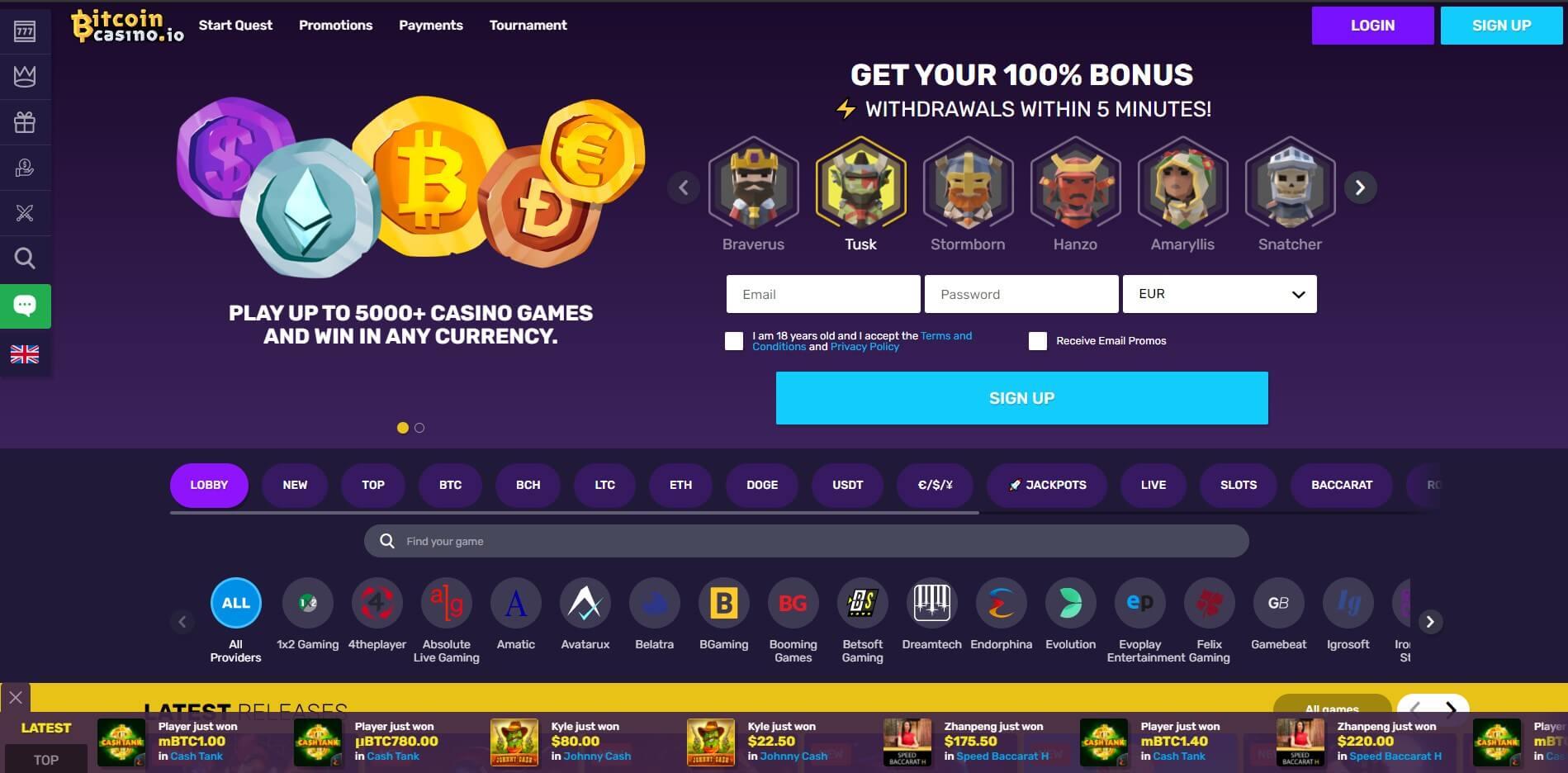 bitcoincasino.io - Website Review