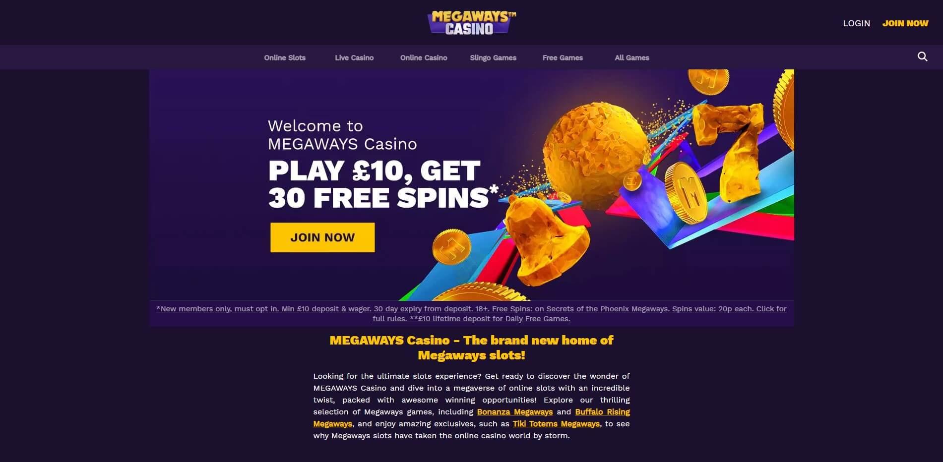 megawayscasino.com - Website Review