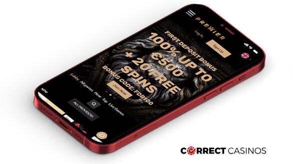premier Casino - Mobile Version