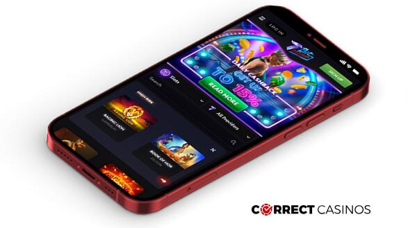7Bit Casino - Mobile Version
