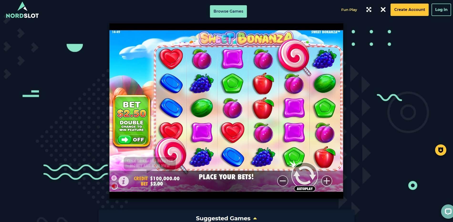 Game Play at NordSlot Casino