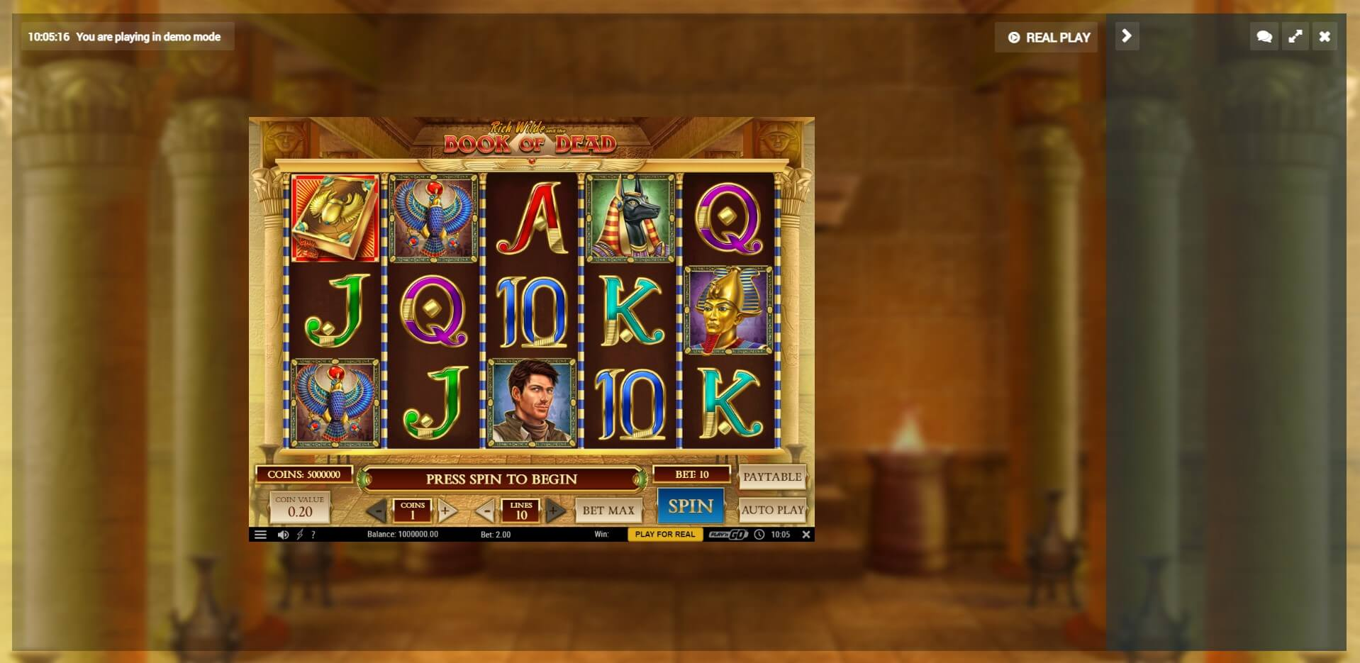 Game Play at OnlineSlotsLobby Casino