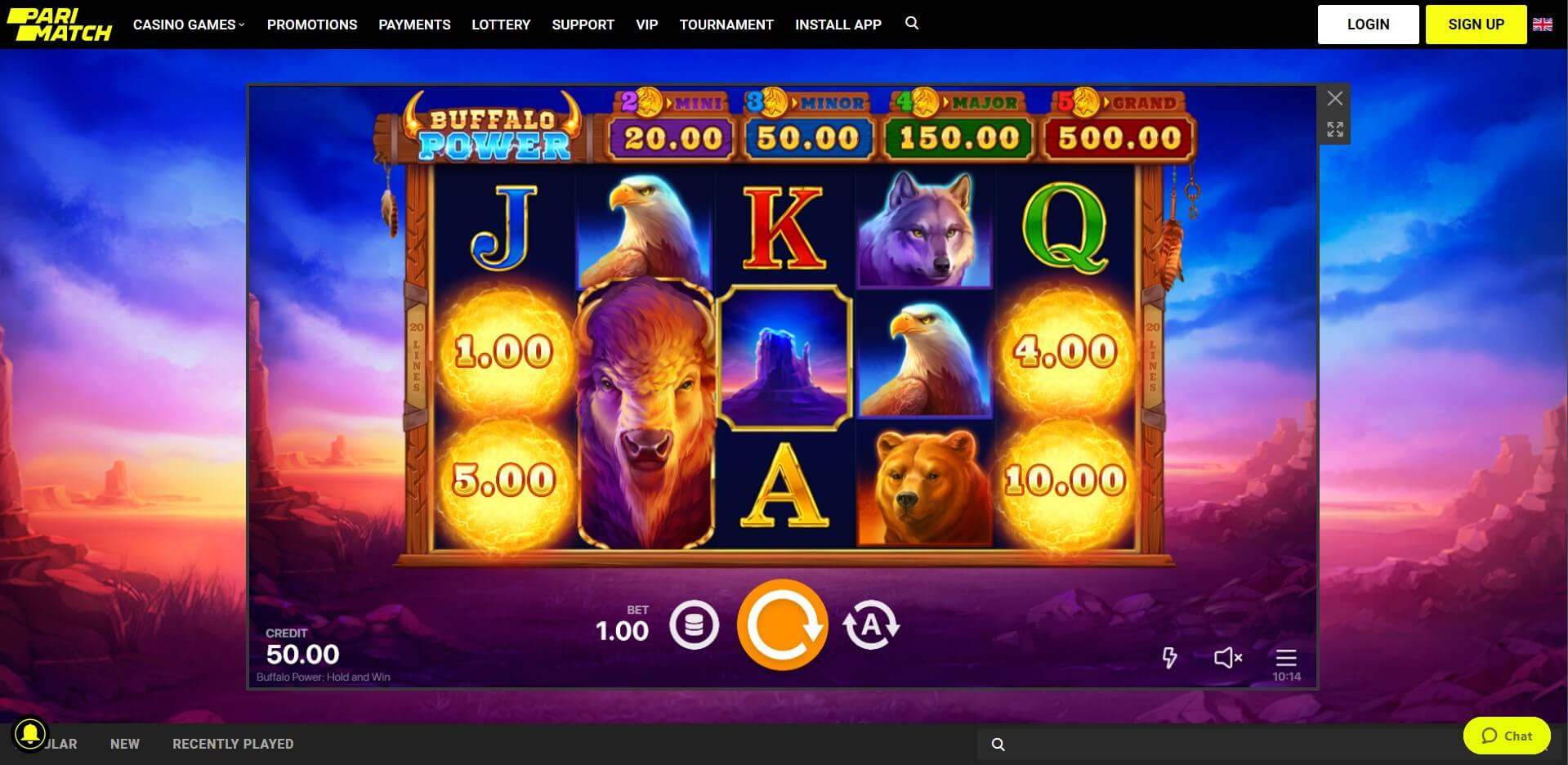 Game Play at Parimatch Casino