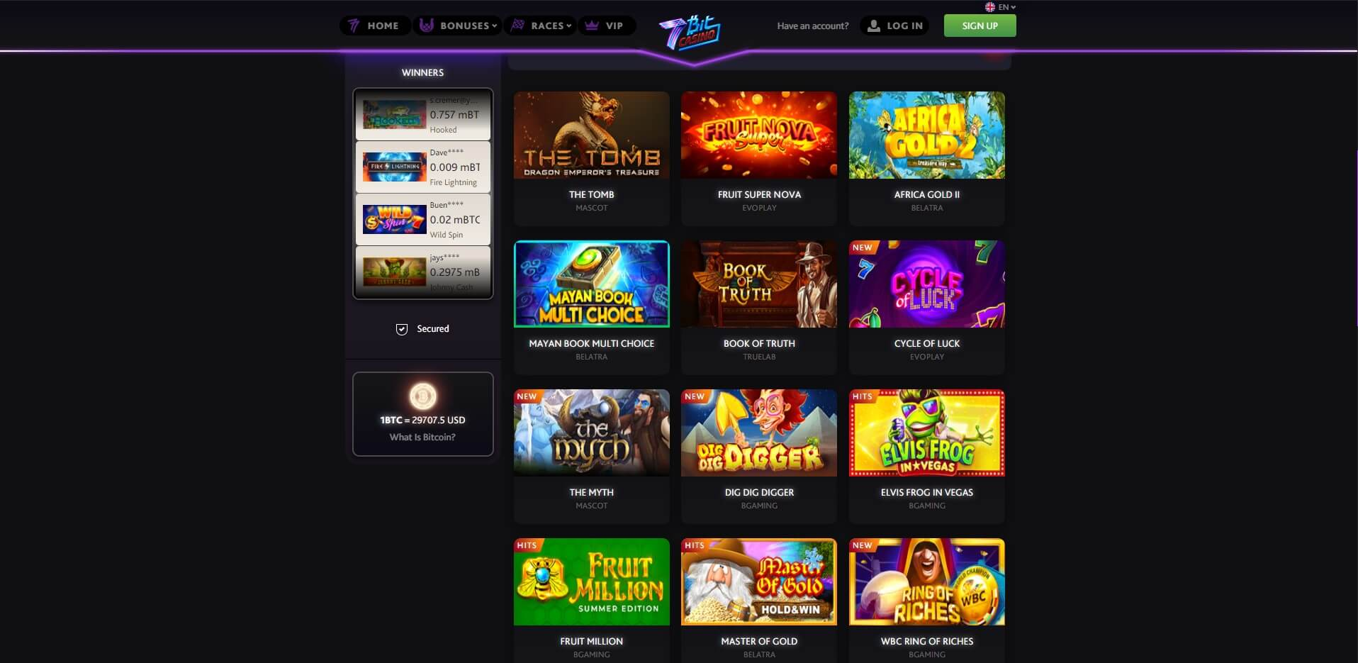 Games at 7Bit Casino
