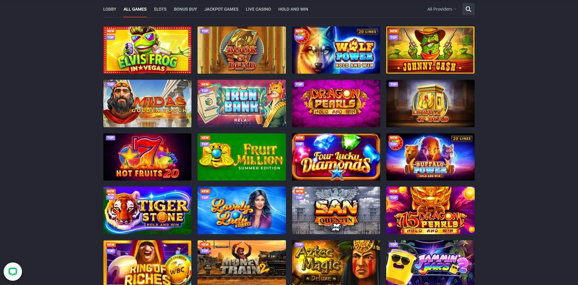 Games at Joo Casino