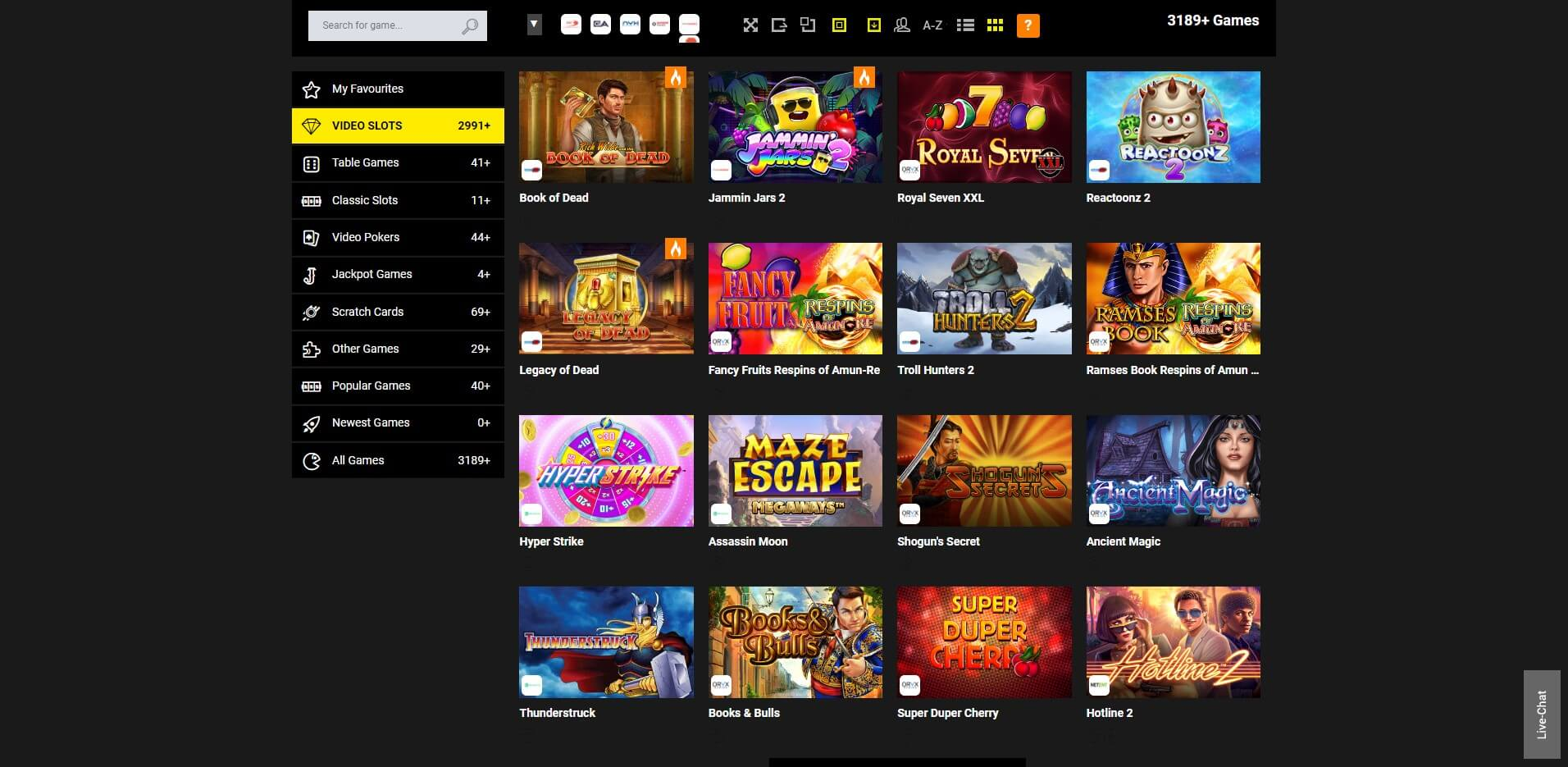 Games at Stake7 Casino