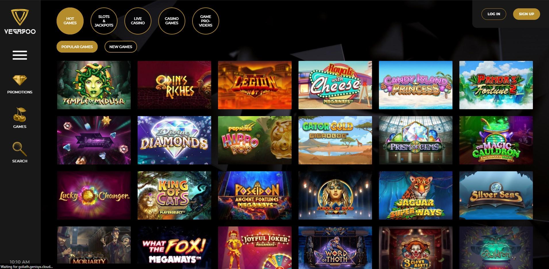 Games at Vegasoo Casino