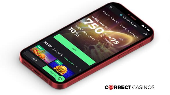 LuckyNova Casino - Mobile Version