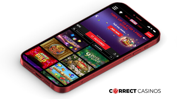 OnlineSlotsLobby Casino - Mobile Version