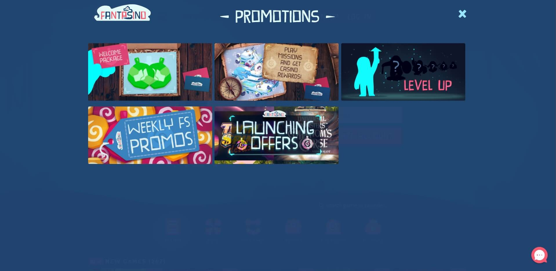 Promotions at Fantasino Casino